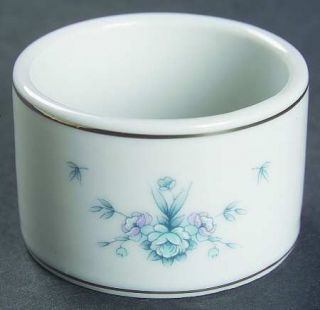 Royal Prestige Danielle Napkin Ring, Fine China Dinnerware   Blue & Pink Flowers