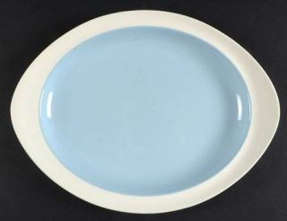 Wedgwood Summer Sky Blue & White 11 Oval Serving Platter, Fine China Dinnerware