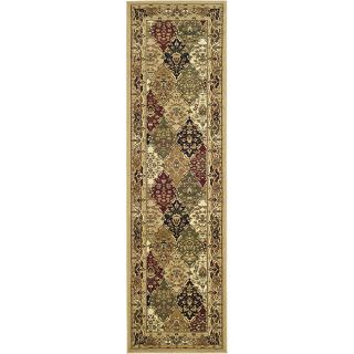Lyndhurst Collection Multicolor/ Beige Runner (23 X 16)