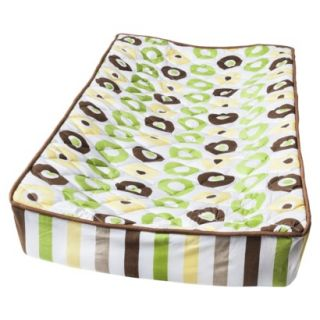 Green/Yellow/Chocolate Mod Dots/Stripes changing pad cover