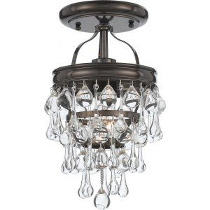 Crystorama Lighting CRY 131 VZ CEILING Calypso Calypso 1 Light Bronze Semi Flush