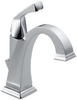 Delta 551DST Bathroom Faucet, Dryden SingleHandle Diamond Seal Technology Chrome