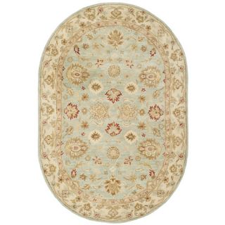 Safavieh Antiquity Grey Blue / Beige Rug AT822A  Rug Size Oval 46 x 66