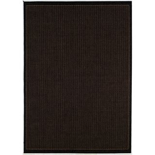 Recife Saddle Stitch Black Rug (39 X 55) (BlackSecondary colors Natural beigePattern StripeTip We recommend the use of a non skid pad to keep the rug in place on smooth surfaces.All rug sizes are approximate. Due to the difference of monitor colors, so