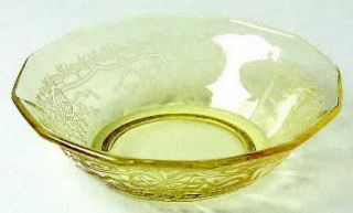 Fostoria June Topaz/Yellow Small Fruit/Dessert Bowl   Stem #5098, Etch #279, Yel