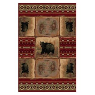 Tayse Nature 6570 Area Rug Multicolor   6570 RED 5X8, 5 x 8 ft.