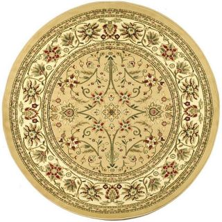 Lyndhurst Collection Majestic Beige/ Ivory Rug (8 Round)