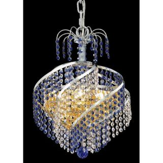 Elegant Lighting Spiral 3 Light Chandelier 8053D14