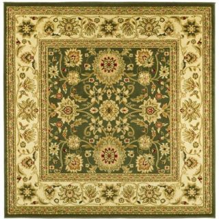 Lyndhurst Collection Majestic Sage/ Ivory Rug (8 Square)