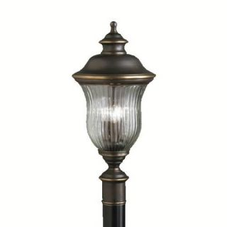 Kichler 9932OZ Outdoor Light, Classic (Formal Traditional) Post Mount 3 Light Fixture Olde Bronze
