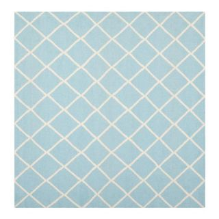 Safavieh Dhurries Light Blue/Ivory Rug DHU565B Rug Size Square 6 x 6