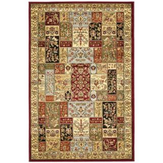 Lyndhurst Collection Traditional Multicolor/ Ivory Rug (4 X 6)