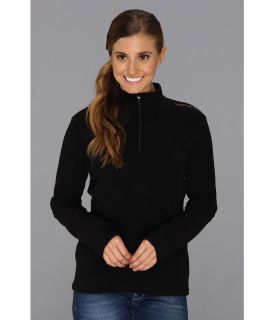 Hot Chillys La Montana Panel Zip T Womens Long Sleeve Pullover (Black)