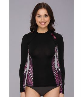 Rip Curl Mirage L/S Rashguard Womens Swimwear (Black)