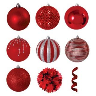 40 Piece Ornament Set   Red