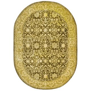 Safavieh Silk Road Brown/Ivory Rug SKR213F Rug Size Oval 46 x 66