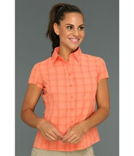 Mountain Hardwear Terralake S/S Shirt Womens Short Sleeve Button Up (Orange)