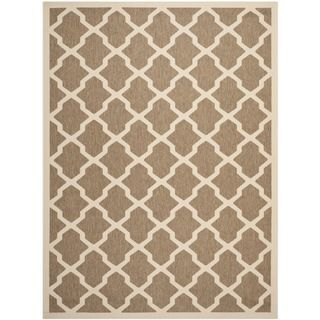 Safavieh Indoor/ Outdoor Courtyard Brown/ Bone Area Rug (8 X 11)