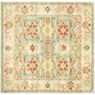 Safavieh Heritage Light Blue/Ivory Rug HG734A Rug Size Square 6