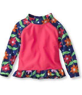Infant And Toddler Girls Sea Spray Ruffle Surf Shirt Infant