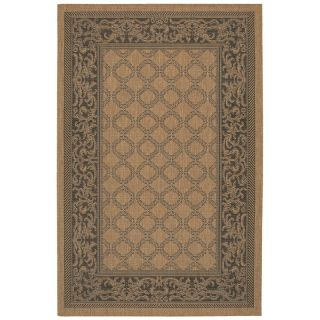 Couristan Recife Garden Lattice Indoor/Outdoor Area Rug   Cocoa/Black