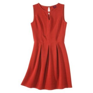 Merona Womens Textured Sleeveless Keyhole Neck Dress   Hot Orange   XL