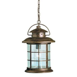Kichler 9870RST Outdoor Light, Transitional Pendant 1 Light Fixture Rustic