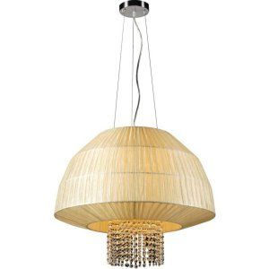 PLC Lighting PLC 73082 BEIGE CFL Tourou 3 Light Pendant Tourou Collection