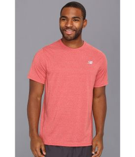 New Balance Heathered Short Sleeve Tee Mens Short Sleeve Pullover (Orange)