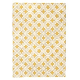 Threshold Indoor/Outdoor Area Rug   Yellow (7x10)