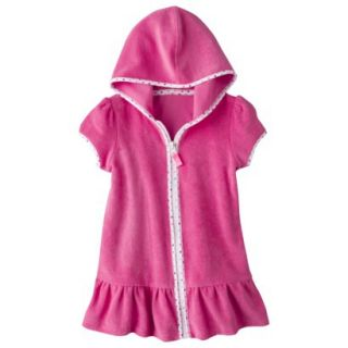 Circo Infant Toddler Girls Hooded Cover Up Dress   Pink 18 M