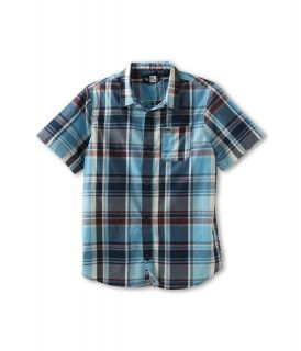 Rip Curl Kids Monte S/S Shirt Boys Short Sleeve Button Up (Navy)