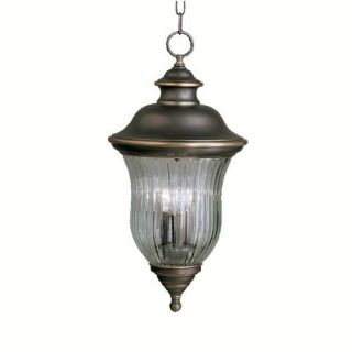 Kichler 9832OZ Outdoor Light, Classic (Formal Traditional) Pendant 3 Light Fixture Olde Bronze