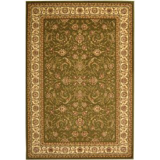Lyndhurst Collection Traditional Sage/ivory Rug (53 X 76)