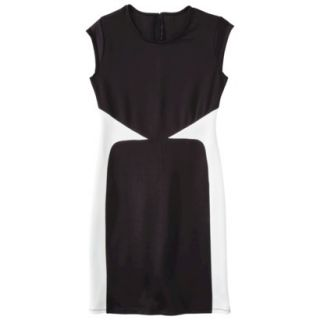 Mossimo Womens Colorblock Scuba Dress   Black XL