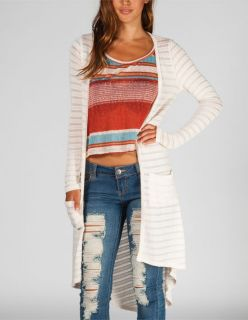 Womens Hachi Knit Long Cardigan Cream In Sizes Large, X Large, Small,