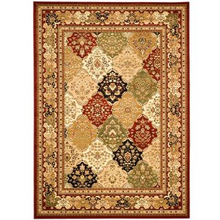Lyndhurst Collection Multicolor/ Red Rug (6 X 9)