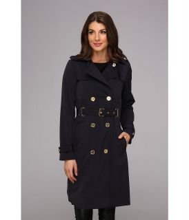 MICHAEL Michael Kors Grommet Trench Womens Coat (Blue)