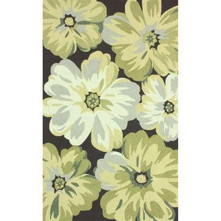 Nuloom Handmade Big Floral Brown Rug (5 X 8)