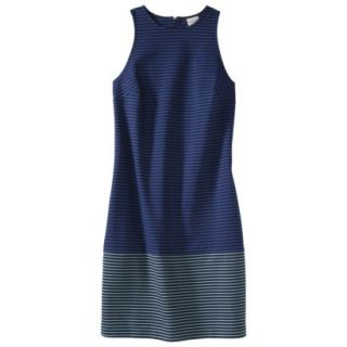 Merona Petites Sleeveless Ponte Dress   Navy Blue 8P