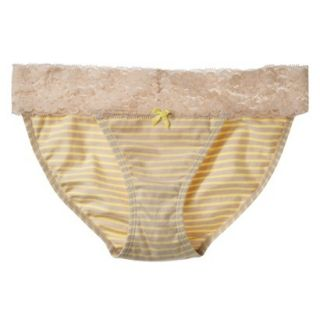 Xhilaration Juniors Wide Lace Cotton Bikini   Dandelion Yellow M
