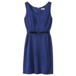 Merona Petites Sleeveless Fitted Dress   Blue XLP