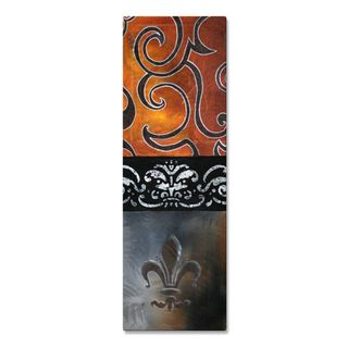 Megan Duncanson Dream Metal Wall Art (SmallSubject AbstractMedium MetalImage dimensions 24 inches high x 8 inches wide x 1 inch deepOuter dimensions 24 inches high x 8 inches wide x 1 inch deep )