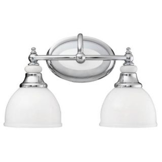 Kichler 5368CH Bathroom Light, Transitional Bath 2Light Fixture Chrome
