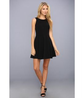 Nicole Miller Brice Satin Crepe Dress Womens Dress (Black)