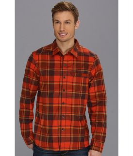 Mountain Hardwear Stretchstone Flannel L/S Shirt Mens Long Sleeve Button Up (Orange)