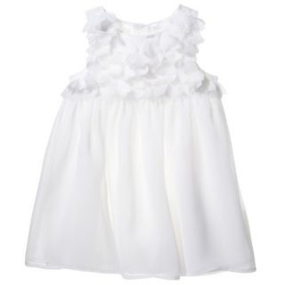 Cherokee Infant Toddler Girls Sleeveless Dress   White 18 M