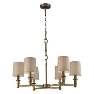 ELK Lighting Baxter 31266/6 Chandelier   Brushed Antique Brass   29W in.