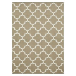 Maples Fretwork Area Rug   Tan (5x7)
