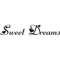 Sweet Dreams Vinyl Wall Art Quote (MediumSubject OtherMatte Black vinylImage dimensions 3.5 inches high x 21 inches wideThese beautiful vinyl letters have the look of perfectly painted words right on your wall. There isnt a background included; just th